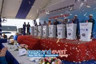 Lễ khởi công lắp đặt  bồn chứa Naphtha - Dự Án Tổ Hợp Hóa Dầu Miền Nam Việt Nam
